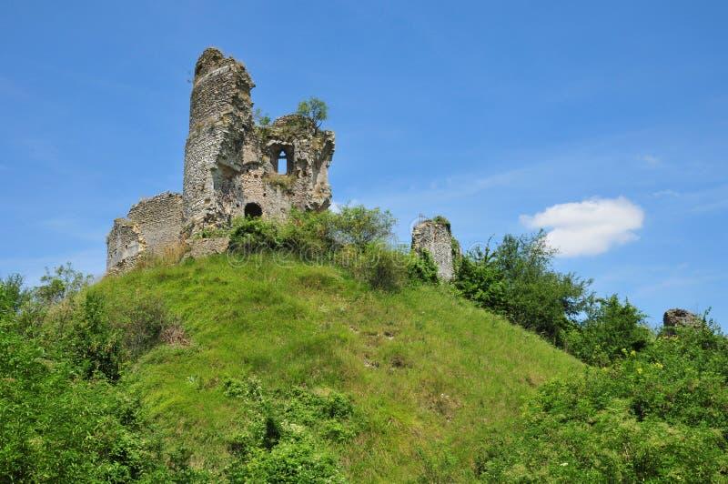 Normandie den pittoreska slotten av Chateausurepte arkivbilder