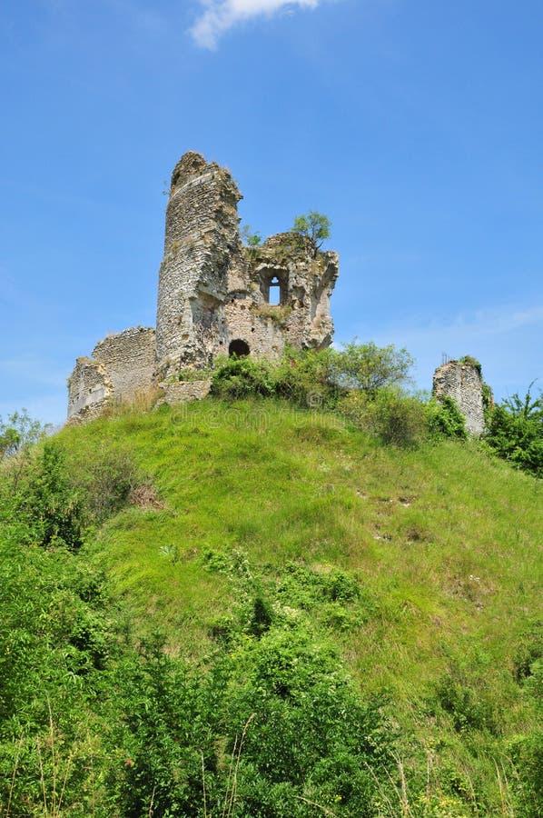 Normandie den pittoreska slotten av Chateausurepte arkivfoton