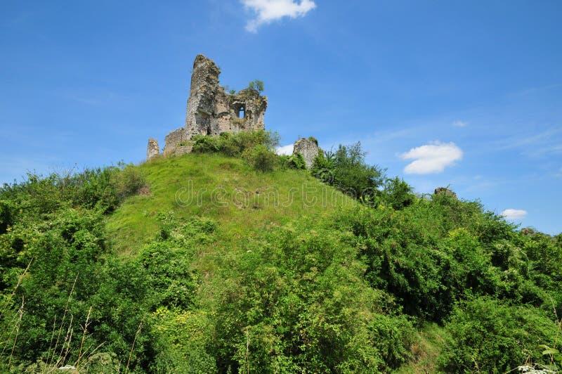 Normandie den pittoreska slotten av Chateausurepte arkivfoto