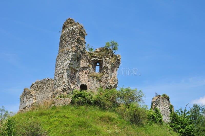 Normandie den pittoreska slotten av Chateausurepte royaltyfri foto