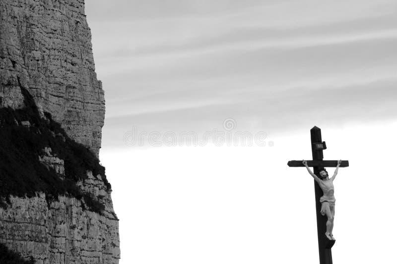 NORMANDIE - klippor royaltyfria foton