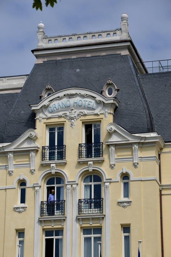 Normandie, la ville pittoresque de Cabourg en été photographie stock libre de droits