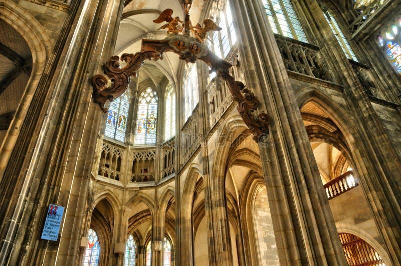 Normandie, la ville pittoresque de Rouen image stock