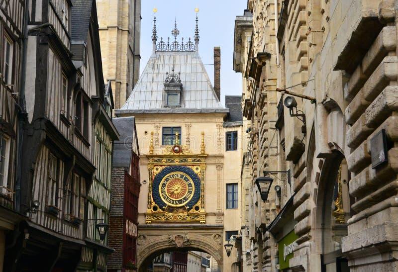 Normandie; pittoresk stad av Rouen i maritima Seine royaltyfria foton