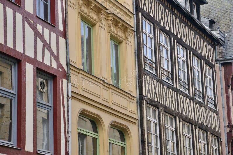 Normandie; pittoresk stad av Rouen i maritima Seine fotografering för bildbyråer