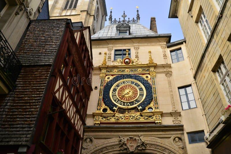 Normandie pittoresk stad av Rouen i maritima Seine arkivbilder