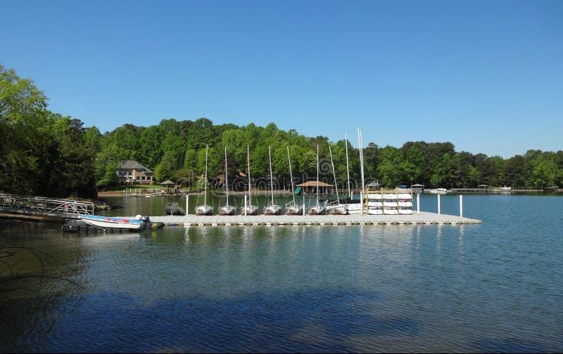 Normando do lago em Huntersville, North Carolina fotos de stock royalty free