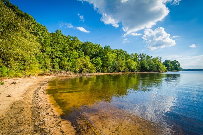 Normando do lago, na área do acesso de McCrary, em Mooresville, música de natal norte imagens de stock royalty free