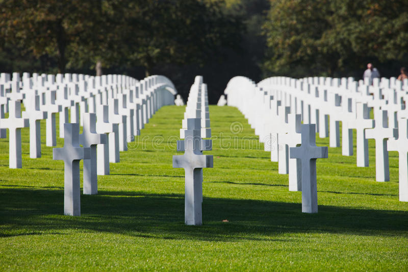 Download Normandy American Cemetery stock image. Image of prey - 22383045