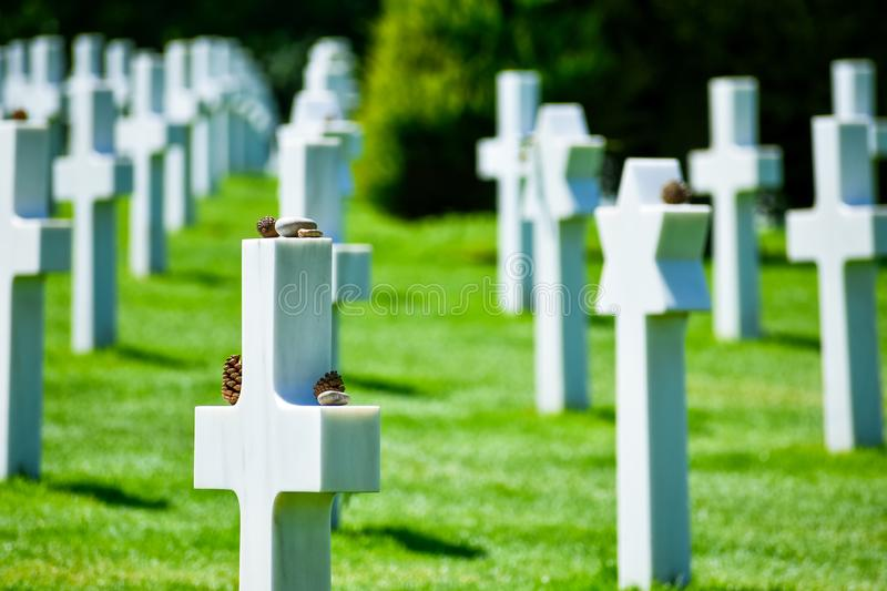 Normandy American Cemetery and Memorial, Colleville-sur-Mer, Normandy, France royalty free stock photography