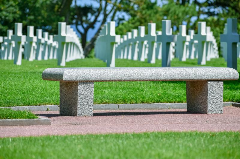 Normandy American Cemetery and Memorial, Colleville-sur-Mer, Normandy, France stock images