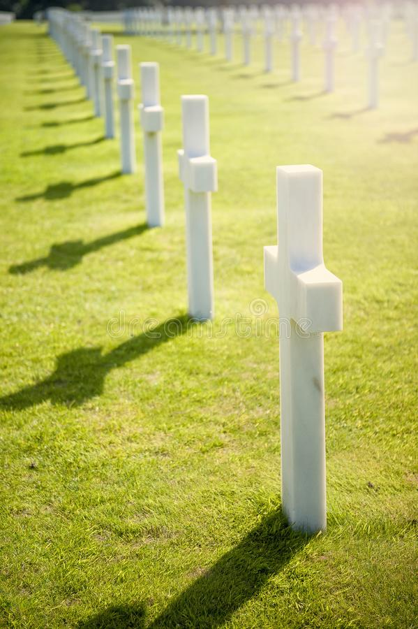 American cemetery in Omaha Beach, Normandy, France. stock photography