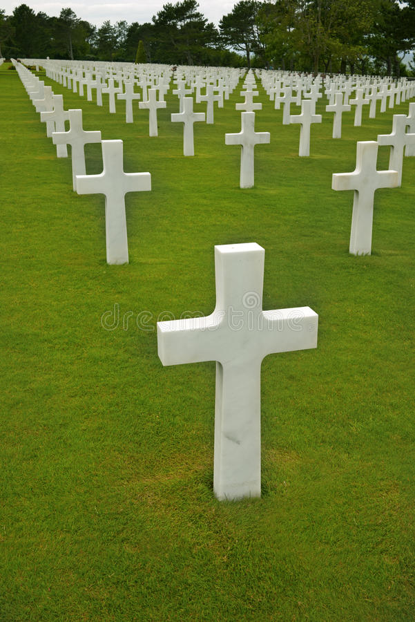 Normandy American Cemetery. Photo of Normandy American Cemetery stock photo