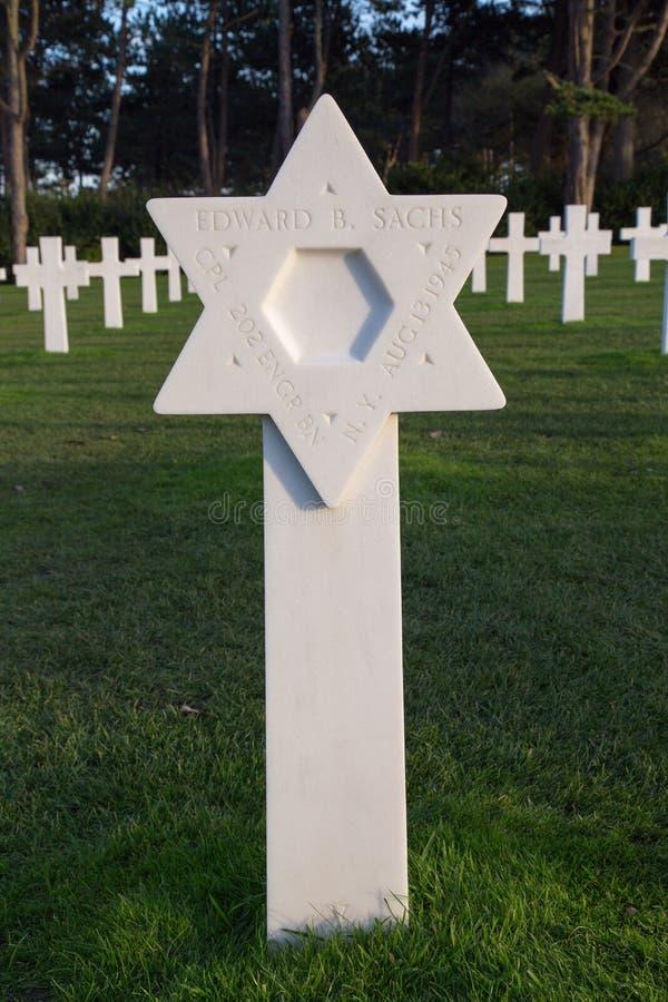 Normandy Amerykański Cmentarniany Colleville obraz stock