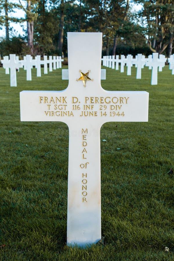 Normandy Amerykański Cmentarniany Colleville fotografia stock