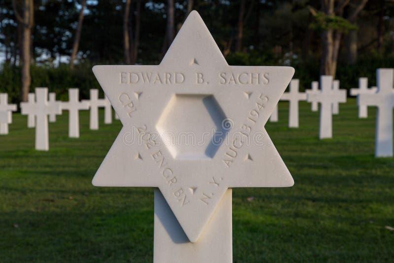 Normandy Amerykański Cmentarniany Colleville obrazy stock