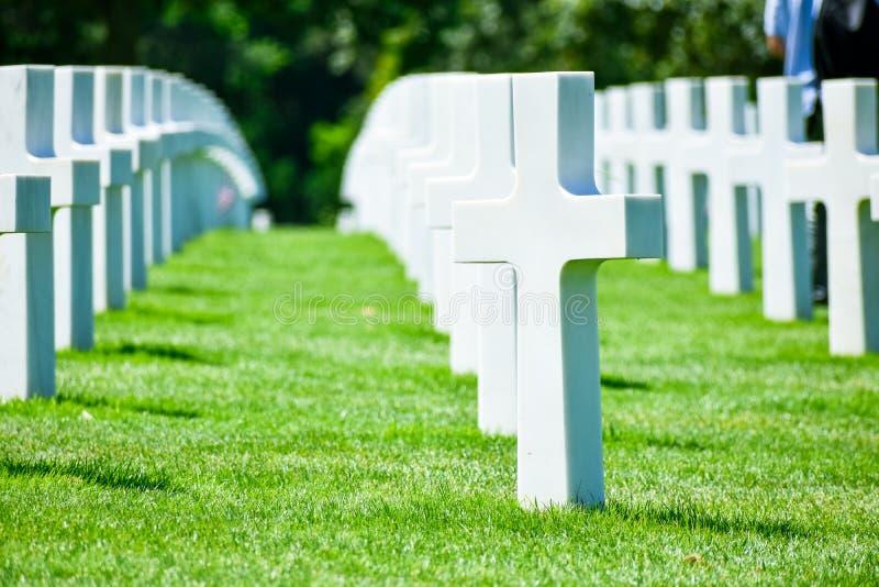 Normandy Amerykański cmentarz i pomnik, colleville-sur-mer, Normandy, Francja fotografia royalty free