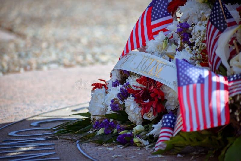 Normandy Amerykański cmentarz i pomnik, colleville-sur-mer, Normandy, Francja obraz royalty free