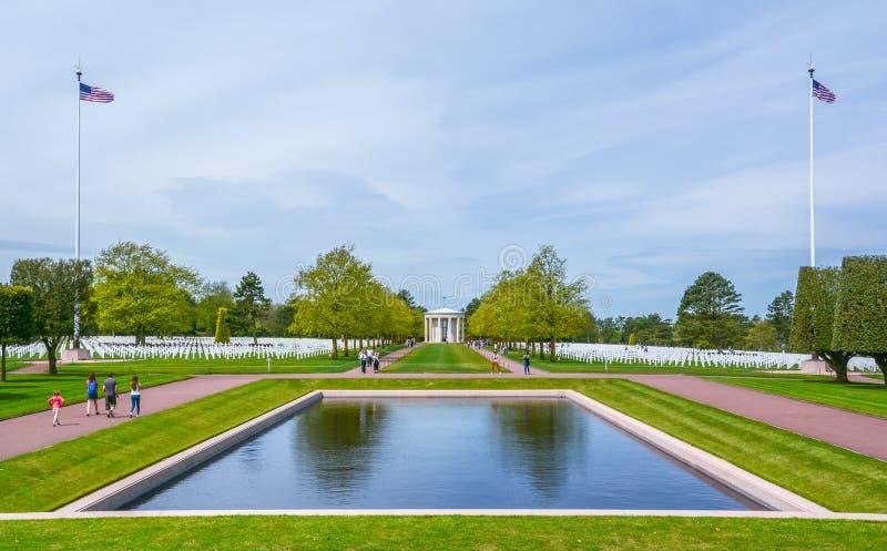 Normandy Amerykański cmentarz w colleville-sur-mer, Francja fotografia stock