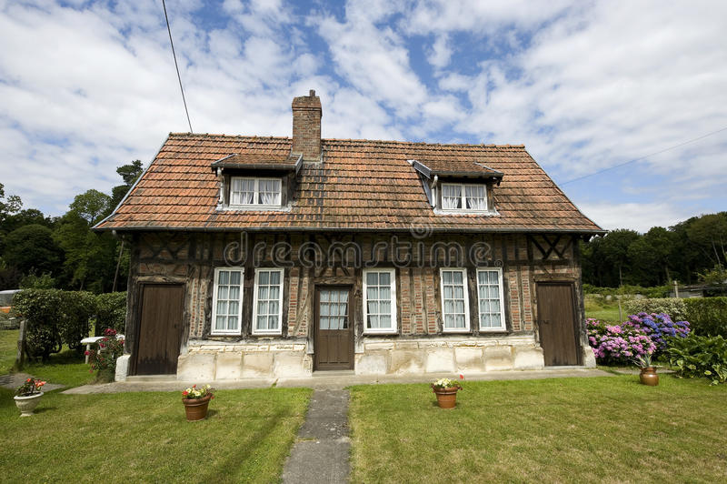 Normandy - Dom na wsi obrazy royalty free