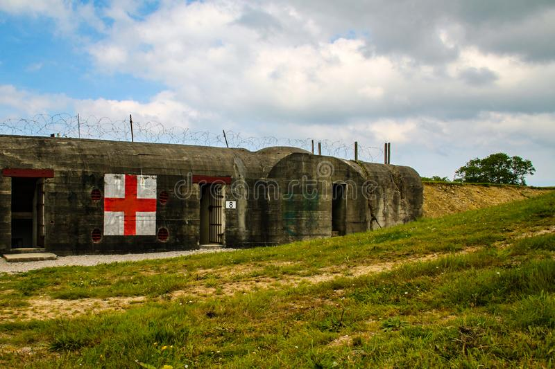 Normandy, France; 4 June 2014: Azeville battery. Placement of German batteries during the Second World War in Normandy, France. Normandy, France; 4 June 2014 stock photography