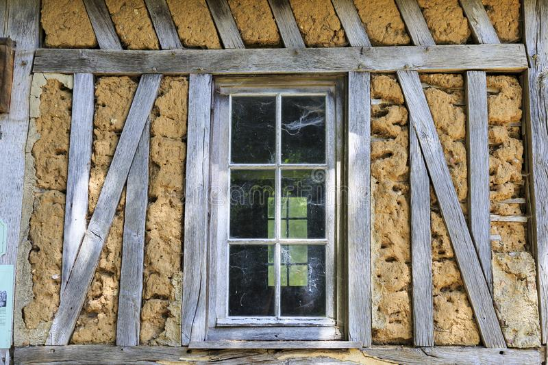 Old traditional cottage in Normandy France stock image