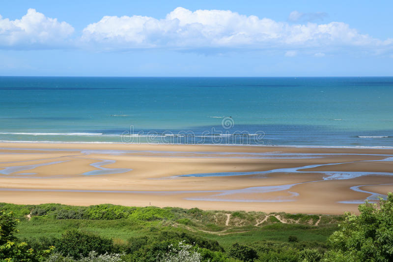 Normandy Omaha Beach. Viewed from American Cemetery royalty free stock photos