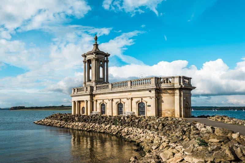 Normantonkerk in Rutland Water Park, Engeland royalty-vrije stock foto