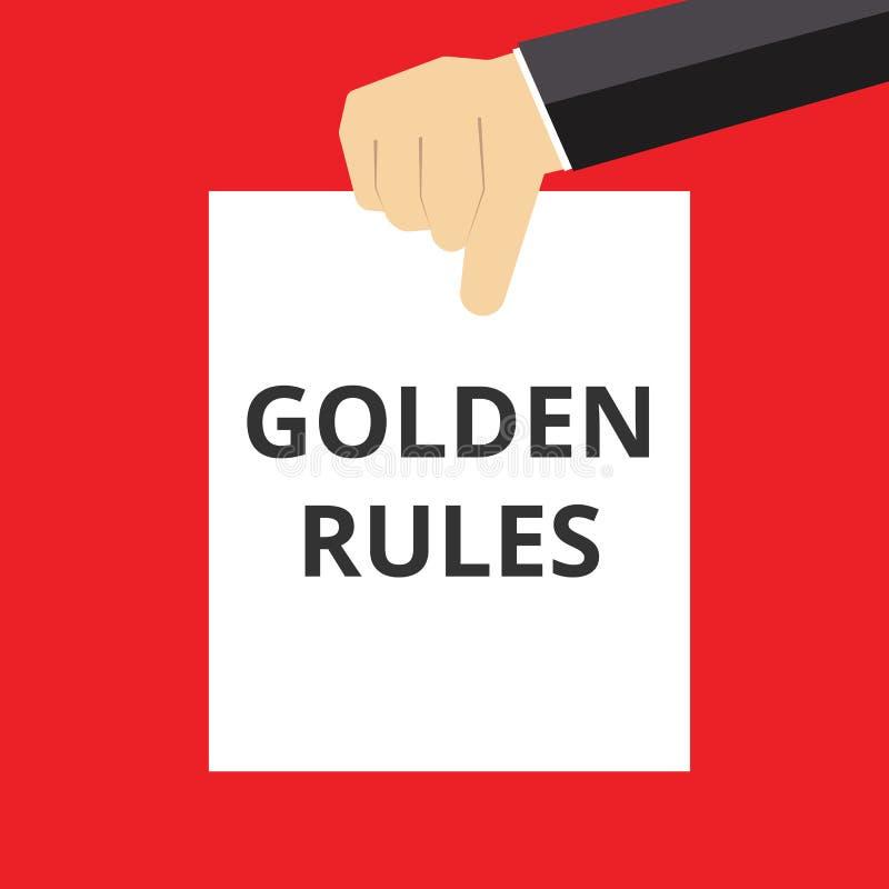 normas de oro del texto stock de ilustración
