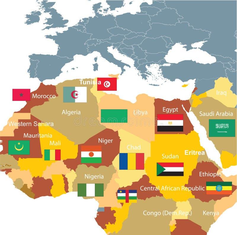 norr africa royaltyfri illustrationer