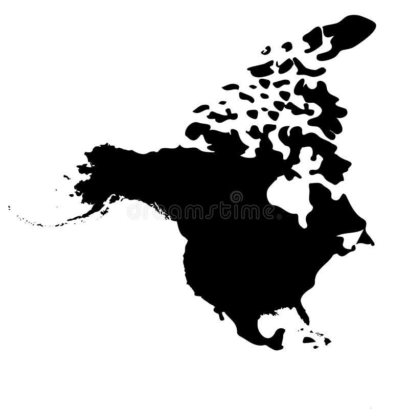 norr Amerika översikt vektor illustrationer