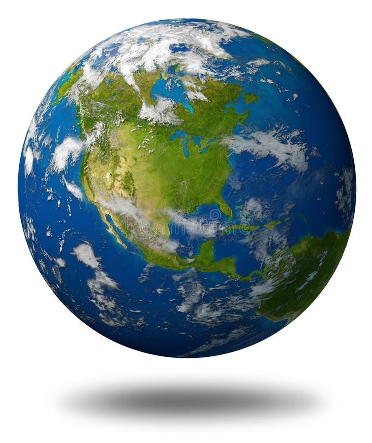 norr Amerika jordjordklot stock illustrationer