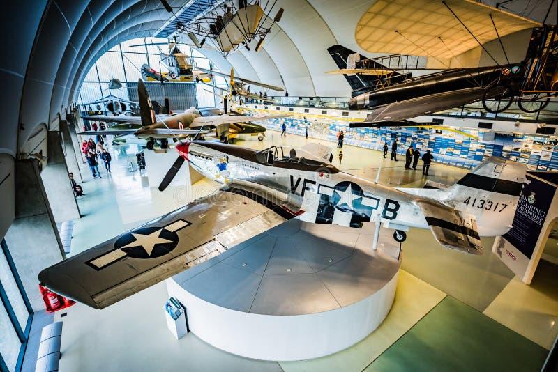 Norr - amerikansk mustang P-51 på RAF Museum fotografering för bildbyråer