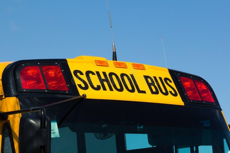 Norr - amerikanskt skolbusstecken arkivfoto