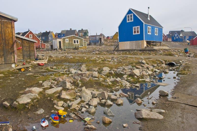 norr avlägsen ittoqqortoormiit arkivbilder