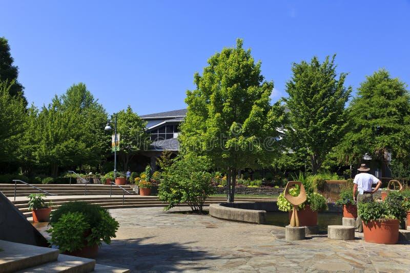 Norr Carolina Arboretum i Asheville i sommar royaltyfria bilder