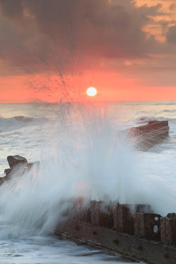 Norr Carolina Hatteras Ocean Sunrise royaltyfri fotografi
