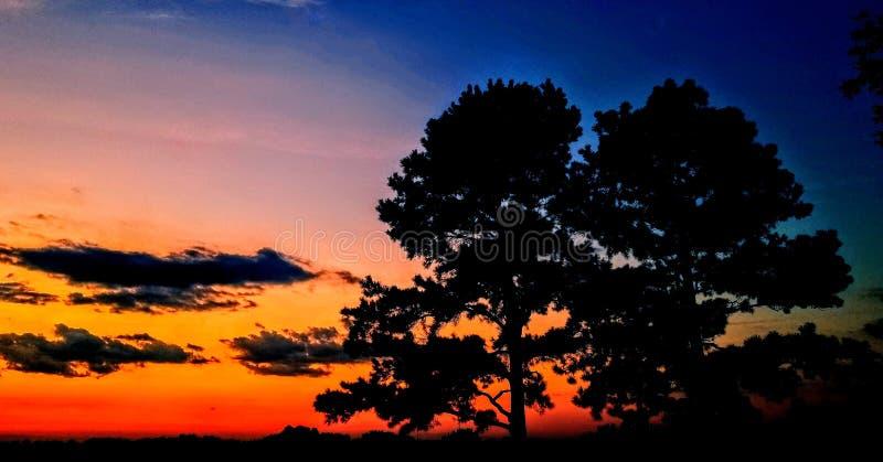 Norr Carolina Summer Sunset arkivfoton