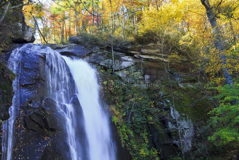 Norr Carolina Waterfall High Shoals Falls arkivfoton