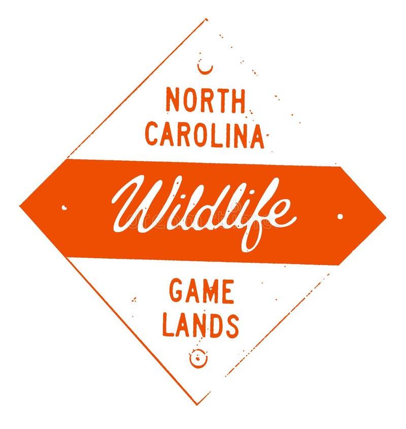 Norr Carolina Wildlife Game Lands Sign royaltyfri foto