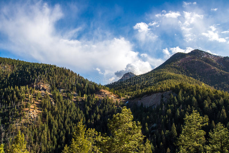 Norr Cheyenne Canyon Colorado Springs arkivfoton