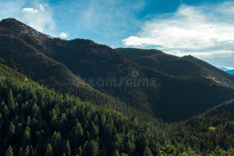 Norr Cheyenne Canyon Colorado Springs royaltyfria foton