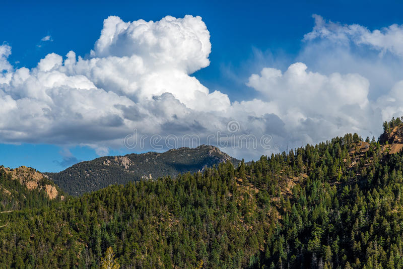 Norr Cheyenne Canyon Colorado Springs royaltyfri bild
