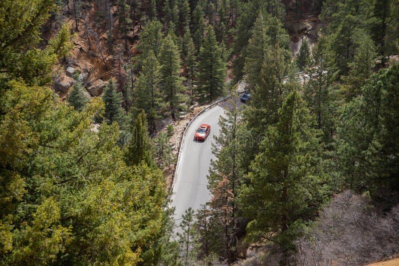 Norr cheyenne kanjonkanon Colorado Springs arkivfoto
