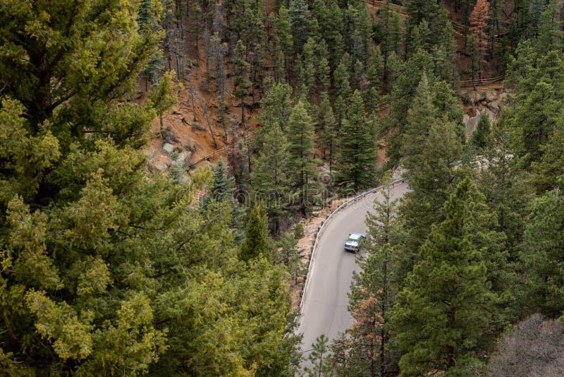 Norr cheyenne kanjonkanon Colorado Springs arkivbilder