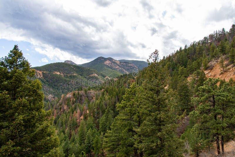 Norr cheyenne kanjonkanon Colorado Springs arkivfoton