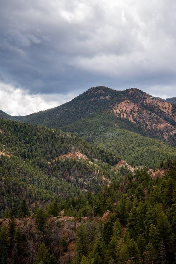Norr cheyenne kanjonkanon Colorado Springs royaltyfri bild