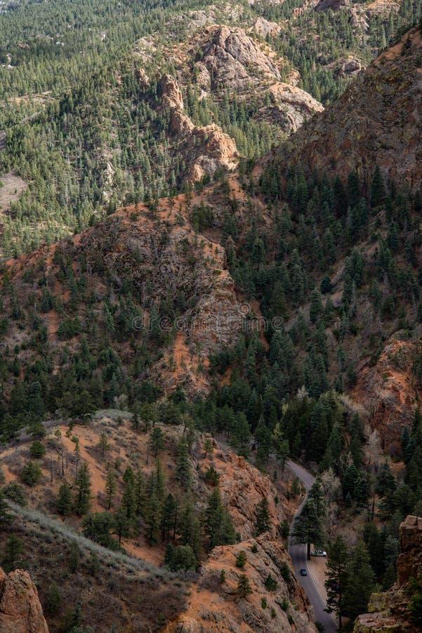 Norr cheyenne kanjonkanon Colorado Springs arkivbild