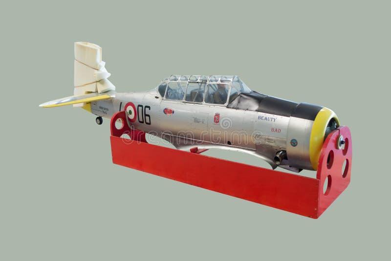 Norr - demontert amerikanskt flygplan för modell för T6G-Texanskala royaltyfri bild