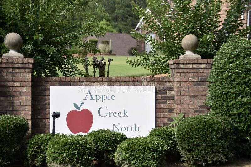 Norr indelning i underavdelningar för Apple liten vik, horn- sjö, Mississippi royaltyfri fotografi